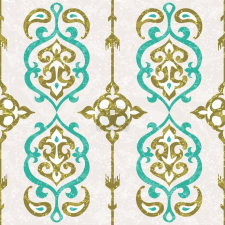 Illustration for Ornamental seamless pattern in oriental style - Royalty Free Image