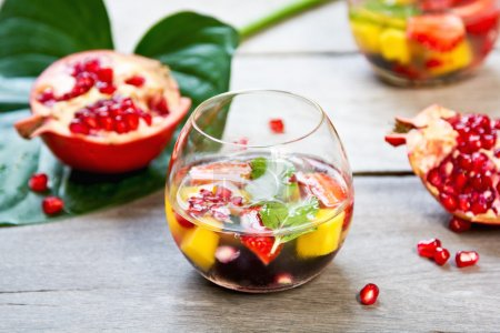 Mango and Pomegranate sangria
