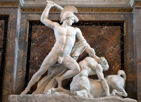 Theseus Fighting the Centaur (1804-1819) by Antoni...