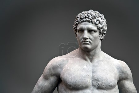 Marble statue of a youthful Hercules, A.D. 68-98...
