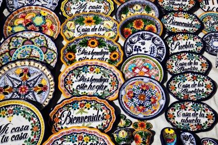 Foto de Recuerdos mexicanos a la venta en puebla, México - Imagen libre de derechos