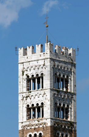 Bell Tower of the San Martino Cathedral in Lucca, built in 1070
