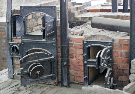 Ruins of Sachsenhausen nazi cremation ovens