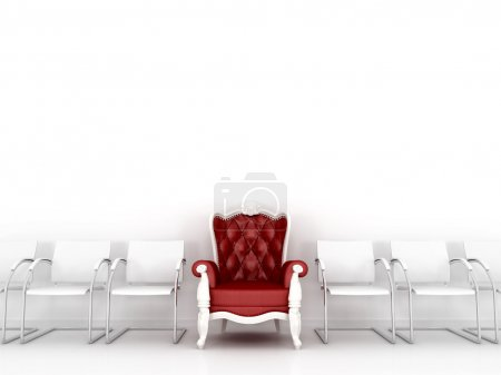Red classic chair