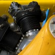 The engine in a Boeing Stearman PT-17...