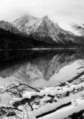 Sawtooth Mountain Lake Deep Winter Landscape Idaho National Recreational Area