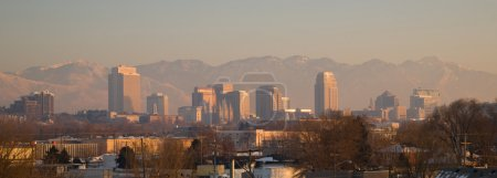 Panoramic Scenic Landscape Salt Lake City Utah Downtown Wasatch