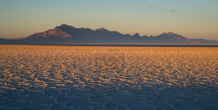 Bonneville Salt Flats Tooele County Utah Pleistocene Lake Sunset