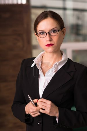 Attractive Brunette Female Business Woman Ceo Office Workplace Workday
