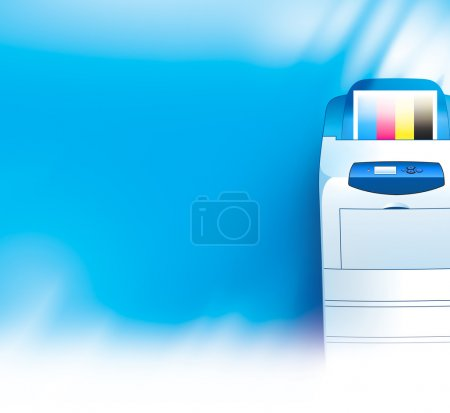 Printer background abstract blue texture
