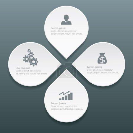 Info graphic label design