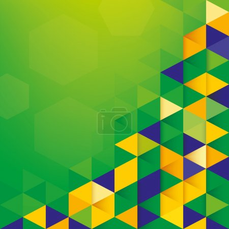 Abstract background Brazil Flag concept
