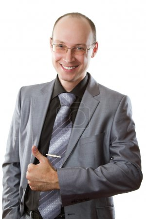 Portrait of a handsome young business man in a stylish suit