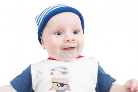 Photo pour Adorable petit garçon d'isolé sur fond blanc. bébés et enfants - image libre de droit