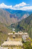 Inca Wall in Machu Picchu, Peru, South America