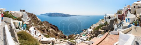 Panorama of Santorini island