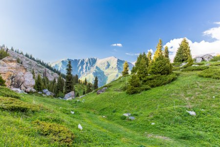 Tien Shan Mountains in Almaty