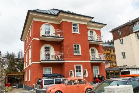 Ski resort town Bad Gastein, Austria, Land Salzburg