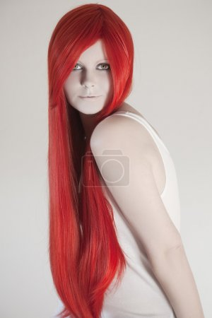 Photo for Beautiful woman with red hair - Royalty Free Image