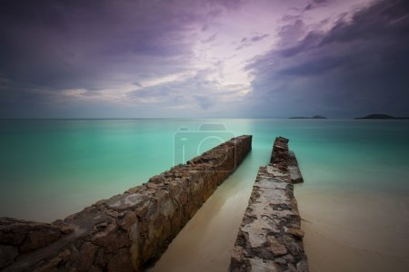 Photo for Abandoned pier at the beach - Royalty Free Image