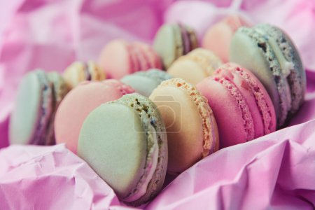 Photo for Shabby Chic Background with Macarons - Royalty Free Image