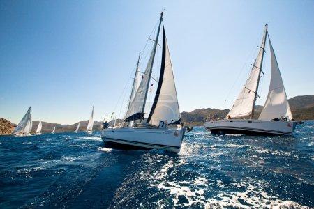 Boats Competitors During of sailing regatta Sail & Fun Trophy 2012