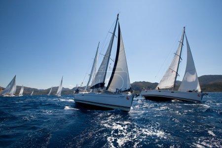 Boats Competitors During of sailing regatta Sail & Fun Trophy