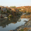 Not-tourist side of Kathmandu, houses of poor in O...