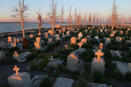 opuszczony cmentarz w epecuen (martwe miasta), Argentyna.