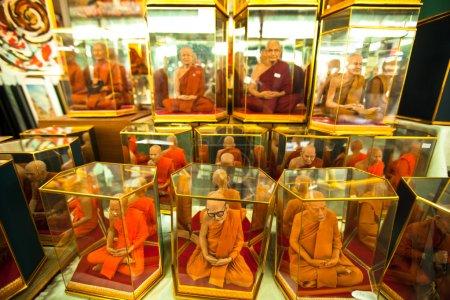 BANGKOK - APR 24: Shop windows with mannequins monks at Chatuchak Weekend
