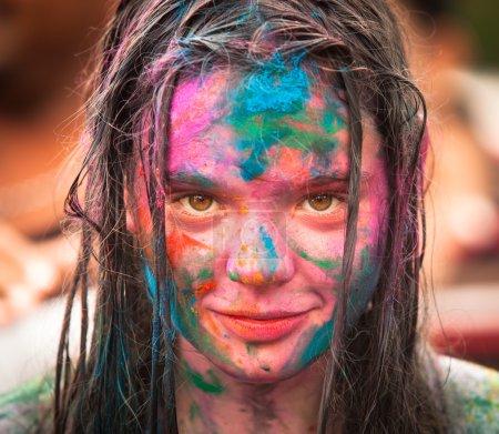 Photo pour KUALA LUMPUR, MALAISIE - MAR 31 : Célébré Holi Festival of Colors, 31 mars 2013 à Kuala Lumpur, Malaisie. Holi, marque l'arrivée du printemps, étant l'un des plus grands festivals en Asie . - image libre de droit