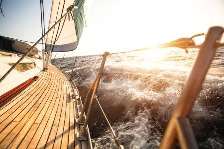 Sailing regatta in the Aegean Sea