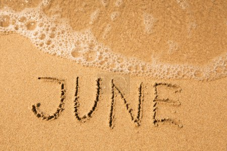 June - written in sand