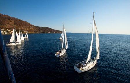 Sailing regatta in Greece
