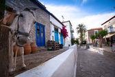 Pohled na město hydra v hydra, Řecko