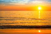 Sunset and sea beach