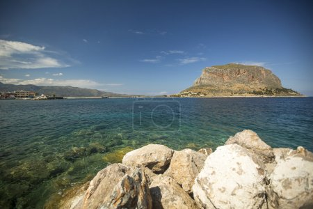 Greek town Monemvasia in Laconia south-eastern pel...