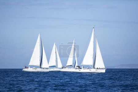 "Sailboats  in sailing regatta ""11th Ellada 2014"""