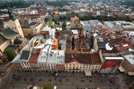 Top view from Lviv City