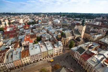 Top view from Lviv City Hall