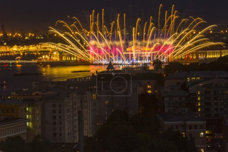 Firework at festival Scarlet Sails in Russia