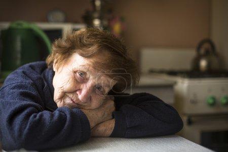 Portrait of elderly woman