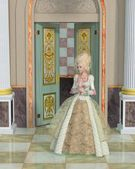 Illustration of Queen Marie Antoinette in the Palace of Versailles