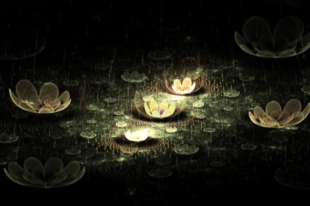 Night Flowers Abstract Fractal Design