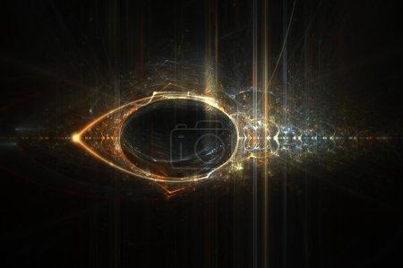 Photo pour Eye of Horus abstrait flamme fractale fond design - image libre de droit