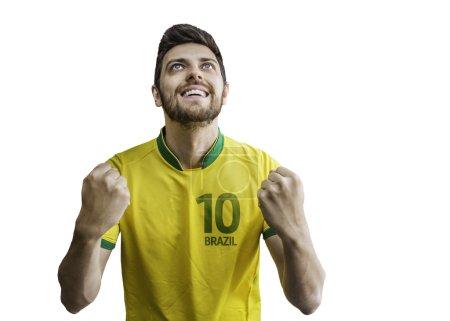 Brazilian man celebrates