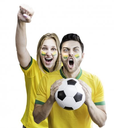 Brazilian couple celebrate