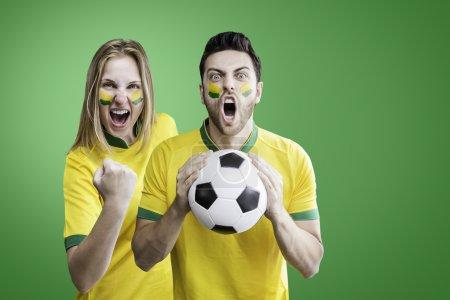 Brazilian couple celebrate