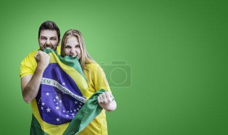 Brazilian fans celebrates