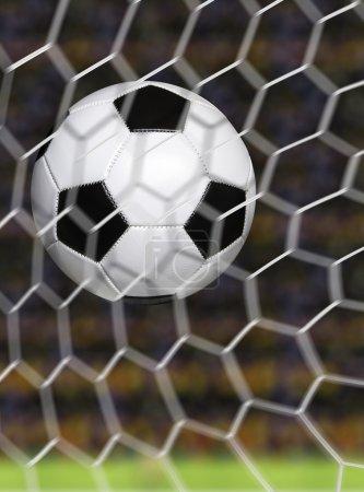 Soccer ball scoring goal